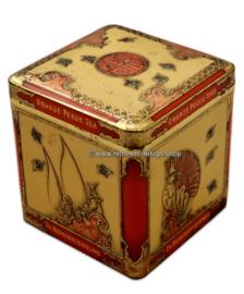 Square tin by NIEMEIJER for Orange Pekoe Tea, vintage