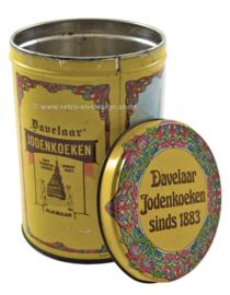 Vintage blik Davelaar Jodenkoeken sinds 1883, molens Alkmaar