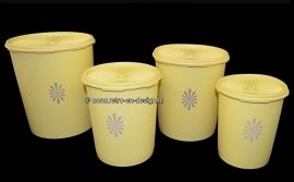 Vintage Tupperware set of four containers with servalier seal