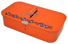 Vintage orange Brabantia shoe polish tin 'Diana'