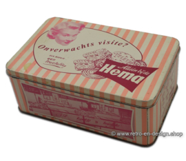 Retro pink tin box for biscuits, HEMA