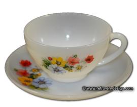 Soup bowl or tea cup, Arcopal Anemones
