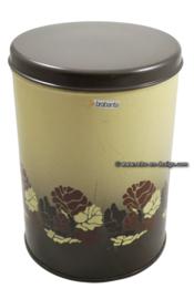 Large round vintage Brabantia storage tin