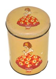 """Vintage beschuit of koekblik met los deksel """"Paula"""" van bakker Paul C. Kaiser"""