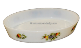 Large oval baking dish, Arcopal Fruits de France