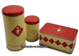 """Vintage set of biscuit tins by """"Bolletje"""""""