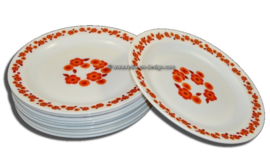 Arcopal Lotus assiette en orange et rouge