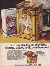 Frisian coffee tin by Douwe Egberts with nostalgic images