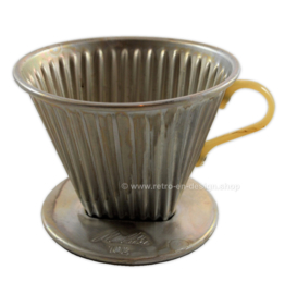 Vintage aluminum coffee filter no. 102 by Melitta
