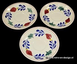 Pastry plates 'Boerenbont' BOCH Belgium