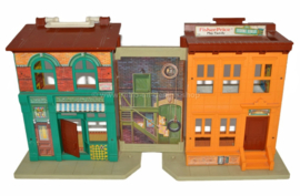 Vintage Fisher Price Little People Sesame Street appartements, de 1974