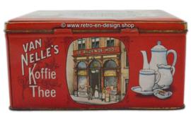 Nostalgische blikken trommel. Van Nelle's Stoom Koffiebranderij en Theehandel