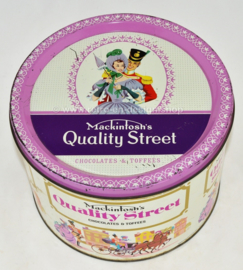 Vintage blikken trommel Mackintosh's Quality Street chocolates & toffees