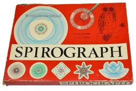 Draw with Spirograph - Sylvain Roche, made in France. Vintage drawing toy