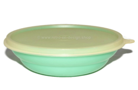 Vintage Tupperware pastel colored cereal bowl, green