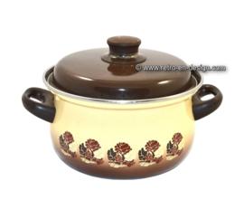 Vintage enamel Brabantia pan