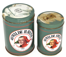 Vintage set of Cigar tins for Wilde Havana and Wilde Spriet by Hofnar