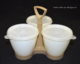 Tupperware Servier-Set Tisch-Trio