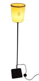 """Starburst"" Retro-Vintage Tupperware floorlamp in yellow"