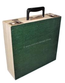 Vintage platenkoffer voor elpees, jaren 50 - 60