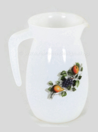 Arcopal Fruits de France pitcher or milk jug made of opal borosilicate glass