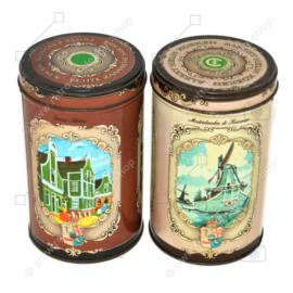 Set mit zwei Vintage Blechdosen für Zaanse Koeken von Albert Heijn