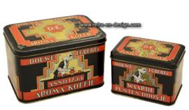 Douwe Egberts aroma-koffie blik en waardepunten doosje
