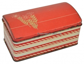 Vintage Albert Heijn red biscuit tin from the 60s