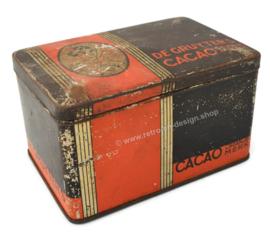 Vintage blik De Gruyter's Cacao Oranjemerk