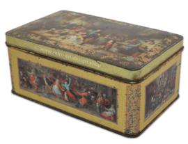 Blikken trommel voor DE GRUYTER met afbeeldingen van schilderijen