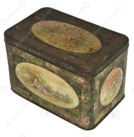 "Antique ""Mazawattee tea"" tea tin with an image of Little bo-peep"