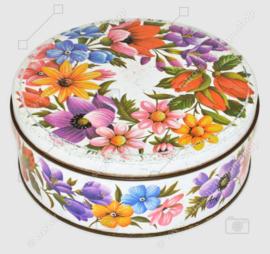 Vintage ARK runde Keksdose mit Blumendekor