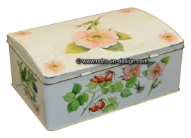 Biscuit tin designed by Louise Carling, container made in England