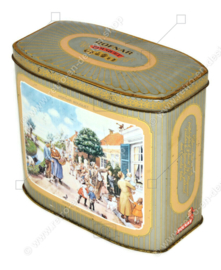 "Vintage Hofnar Cigars Dose mit Illustration des Erzählbildes ""Aap-Noot-Mies"" von Cornelis Jetses"