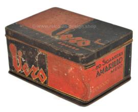 Lata de puros vintage VERO 50 Staartjes Amarillo Nº 2120