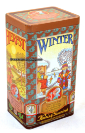 "Kanis en Gunnink vintage coffee tin ""Seasons"""