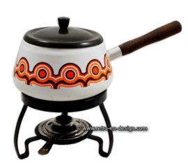 Enamel fondue set by Brabantia. Bayon series