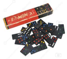 Dominos vintage à pois colorés sur pierres, 1950 - 1960