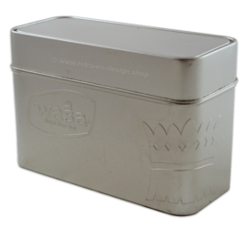 WASA baked since 1919. Silver coloured storage tin