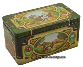 Vintage blik voor thee van Pickwick van Douwe Egberts