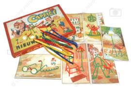 Vintage caprice knutseldoos met chenilledraad (buigdraad) en voorbeeldkaarten