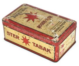 "Caja de hojalata vintage para tabaco de Niemeijer ""Roode-Ster Light Fragrant Smoking Tobacco"""