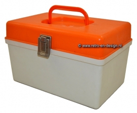 Small model 70s vintage curver Sewing Box,