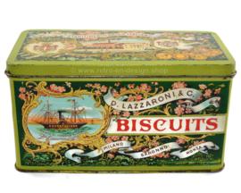 Italiaans blik van D. Lazzaroni & C. voor Biscuits