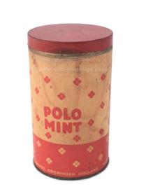 Vintage tin Polo mint, Tammes groningen Holland