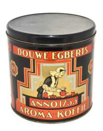 Runde Blechdose für Kaffee von Douwe Egberts anno 1753 Aroma Kaffee
