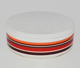 Lata de galletas vintage con patrón de líneas de colores de Brabantia