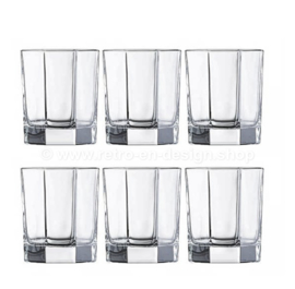 Vaso de whisky transparente vintage de Arcoroc France, Luminarc Octime-Clear