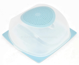 Tupperware CheeSmart Cubic, transparent et bleu clair