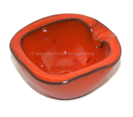 Vintage orange glazed earthenware ashtray by Jaap ravelli nr. 222